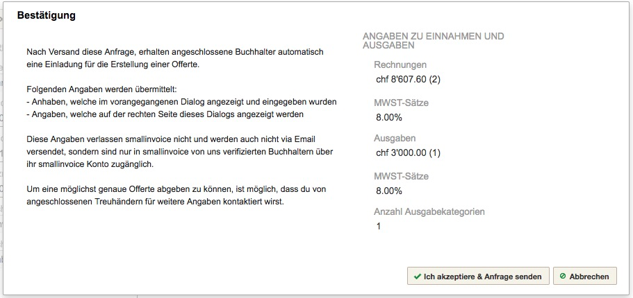 Buchhaltungs Modul Smallinvoice Support